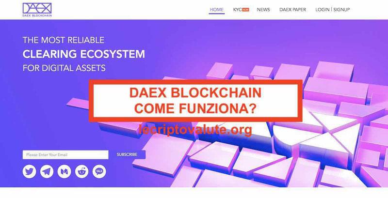 DAEX blockchain ecosistema di distribuzione asset digitali come funziona