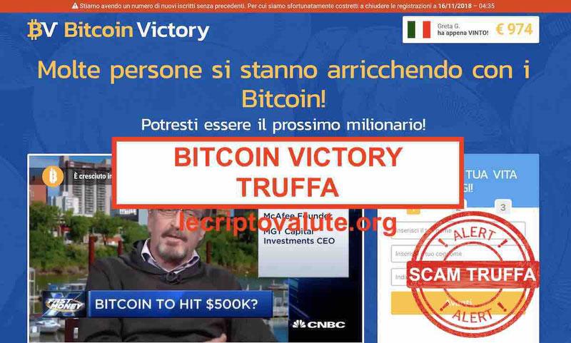 Bitcoin Victory truffa o funziona davvero? Opinioni e recensioni