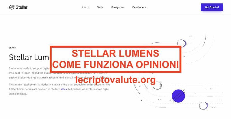 stellar lumens criptovaluta quotazione valore euro opinioni