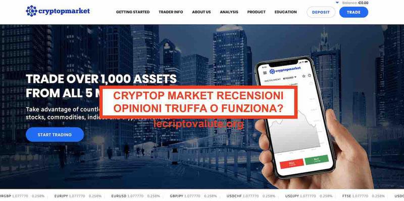 Cryptop Market Recensioni opinioni truffa cryptopmarket.com