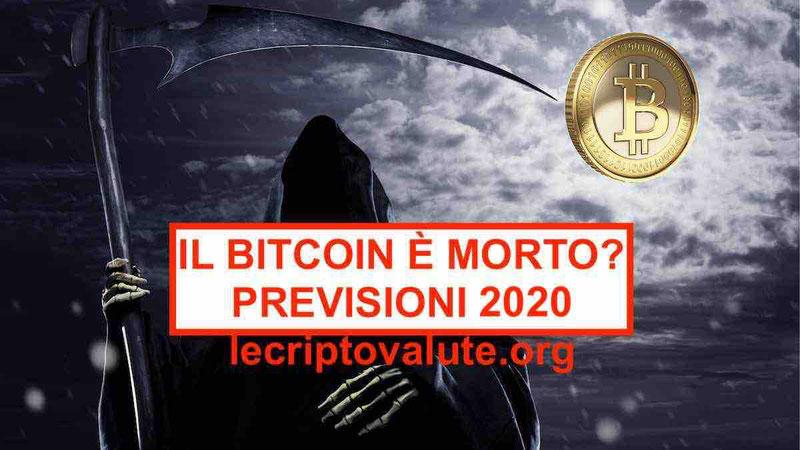 Il valore bitcoin prezzo è morto Aggiornamenti analisi in tempo reale 2020