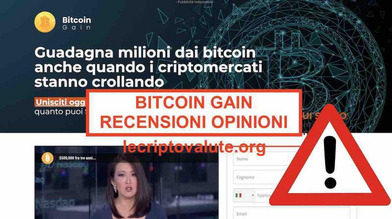 Bitcoin gain recensioni opinioni paolo bonolis  truffa