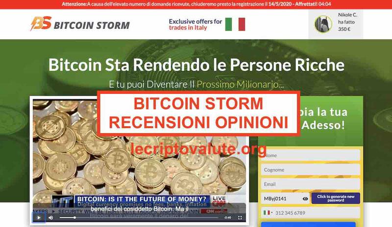 Bitcoin Storm truffa? Opinioni e recensioni