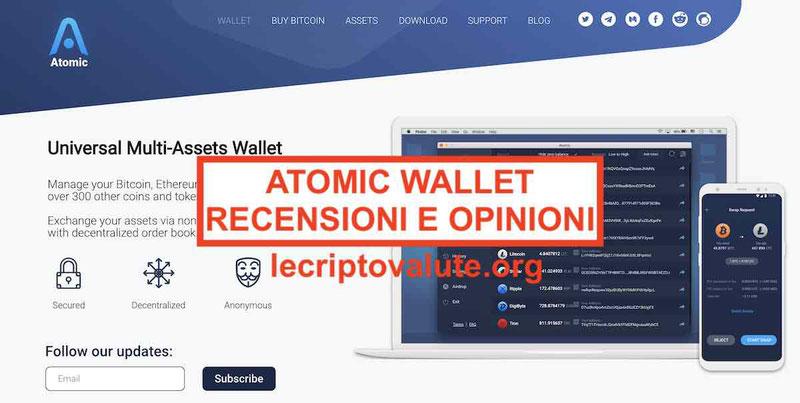 Atomic Wallet recensioni opinioni: truffa o affidabile portafoglio