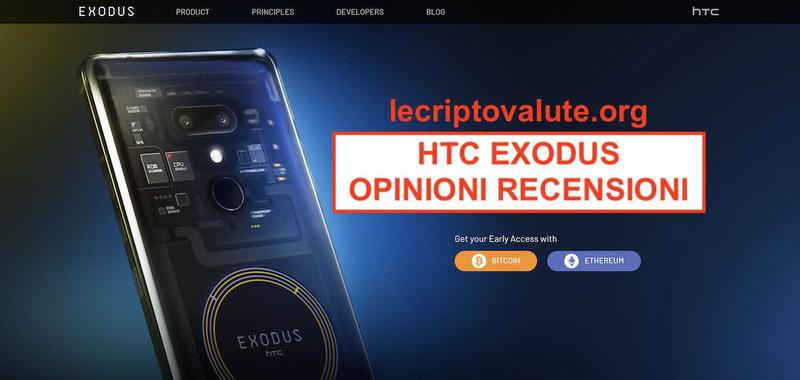 HTC Exodus: blockchain criptovalute entra nello smartphone recensioni e opinioni