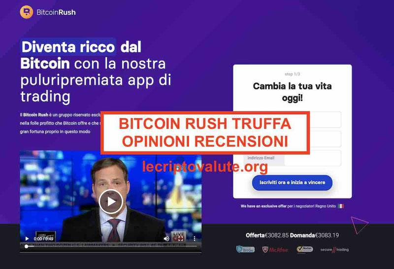 Bitcoin Rush recensioni opinioni: truffa o funziona? [Forum 2019]