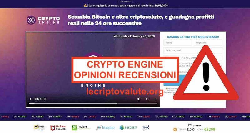 Crypto Engine opinioni recensioni Italia: Cannavacciuolo truffa