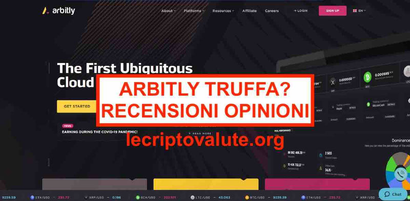 Arbitly recensioni opinioni: sito offline - truffa
