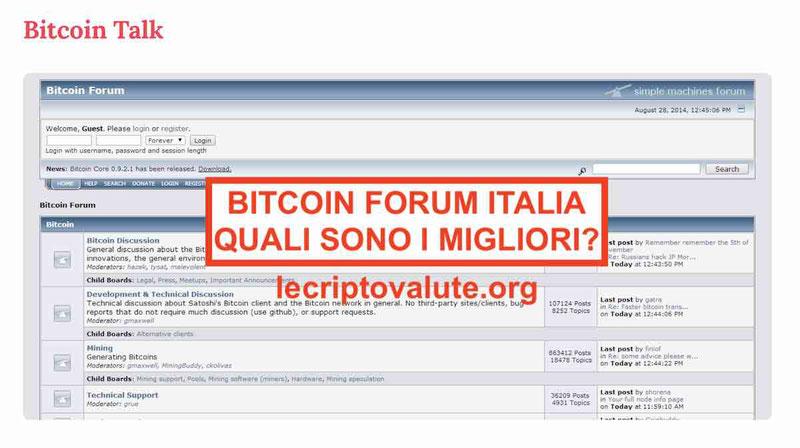 Bitcoin forum Italia quali sono i migliori del mercato Bitcoin