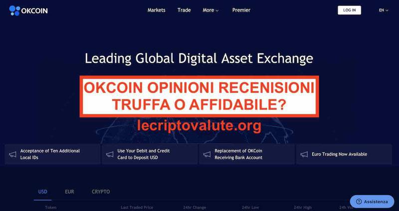 OKCoin Bitcoin Exchange Recensioni truffa o affidabile