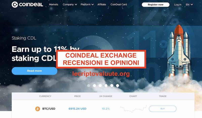 CoinDeal recensioni opinioni exchange [2020]Truffa o funziona Alternative