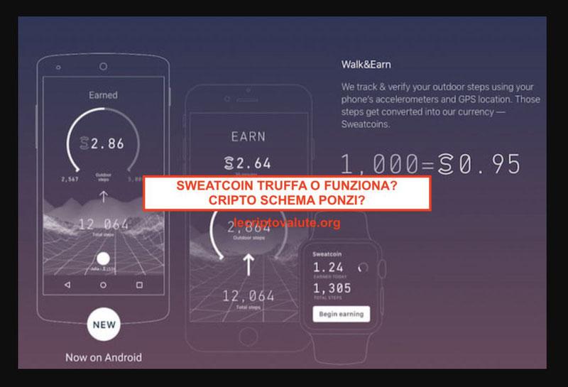 sweatcoin Italia app funziona o truffa? schema ponzi
