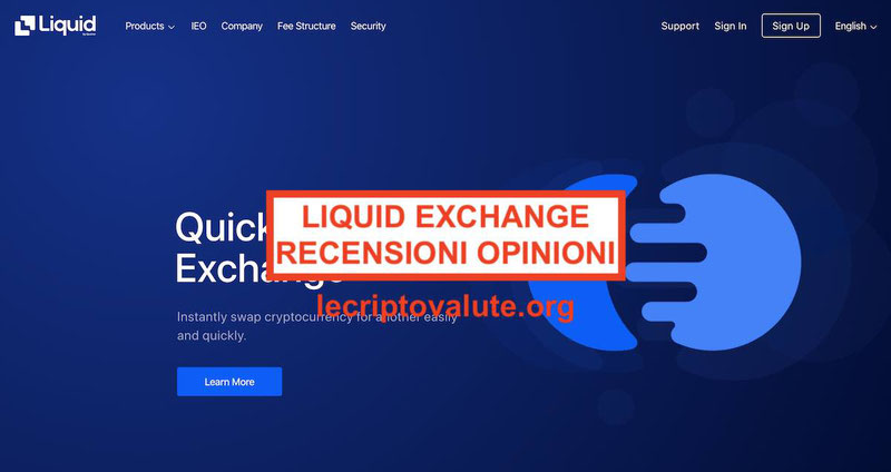 LIQUID Exchange app criptovalute recensioni opinioni: Commissioni