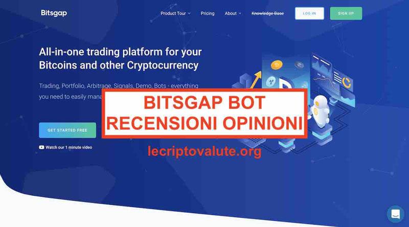 Bitsgap recensioni opinioni RobotTrading, Arbitraggio, Segnali