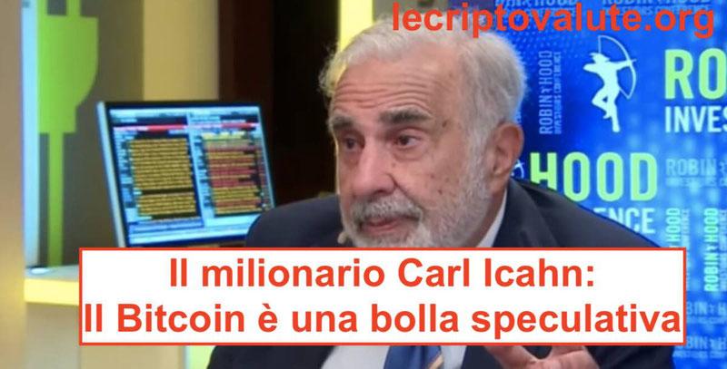 bitcoin bolla speculativa