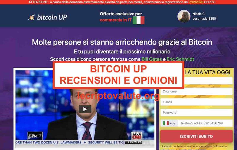 Bitcoin Up recensioni opinioni truffa o funziona