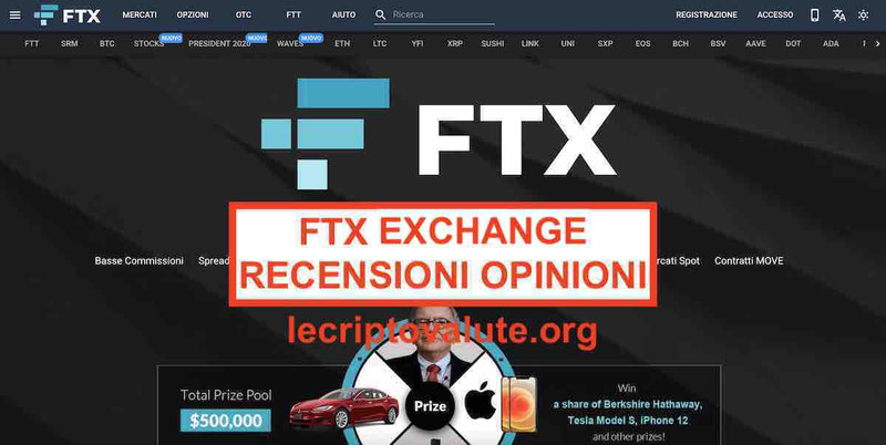 FTX Exchange recensioni opinioni commissioni e alternative