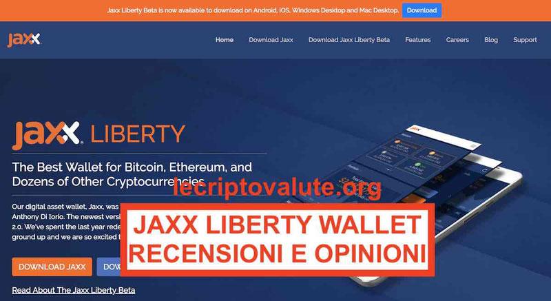 Jaxx Wallet criptovalute recensioni opinioni (Guida principianti)