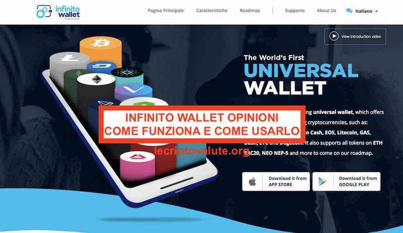 Infinito wallet portafoglio opinioni recensioni: come funziona (guida)