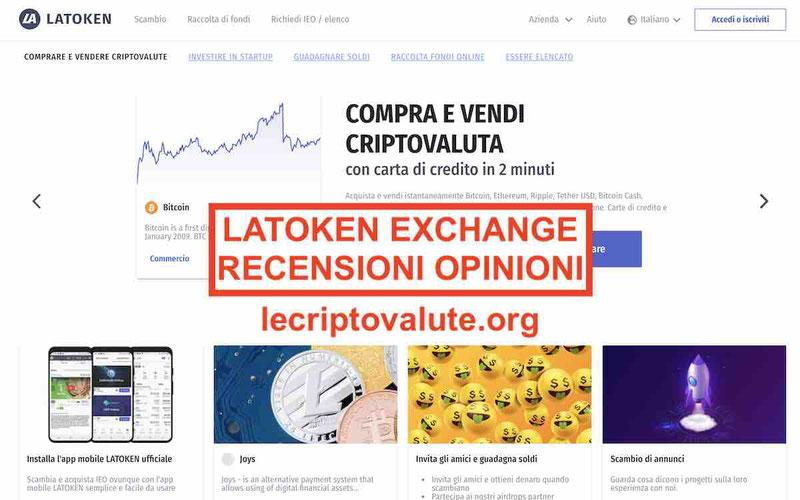 LATOKEN recensioni opinioni exchange commissioni alternative