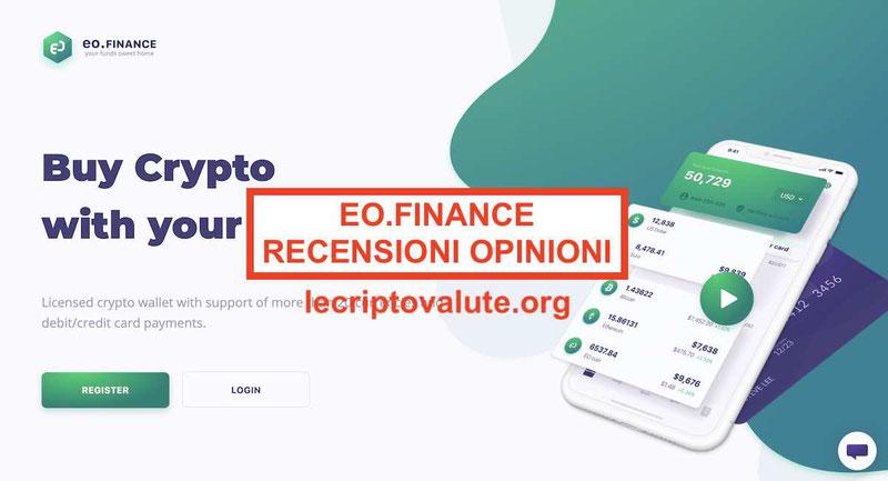 EO.Finance recensioni e opinioni App per comprare criptovalute