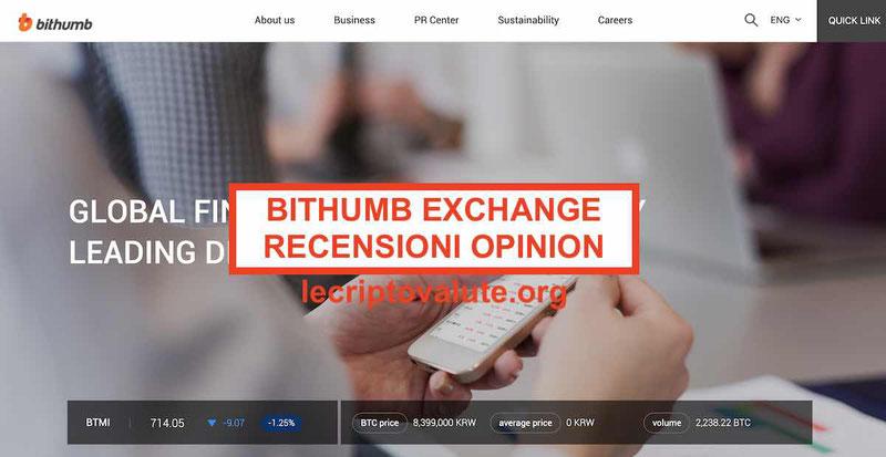 Bithumb Exchange recensioni opinioni [2020]: truffa o funziona?