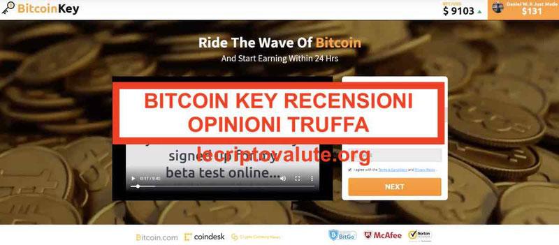 Bitcoin Key Recensioni e Opinioni [2019] Funziona o Truffa?