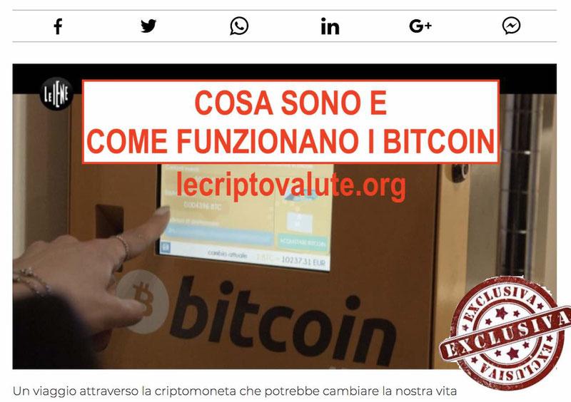 iene bitcoin cosa sono come funziona opinioni