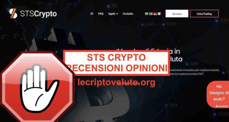 STS Crypto recensioni opinioni - stscrypto.com truffa? [2019]