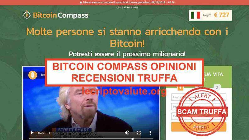 Bitcoin Compass recensioni opinioni truffa: Mattino Cinque e Repubblica