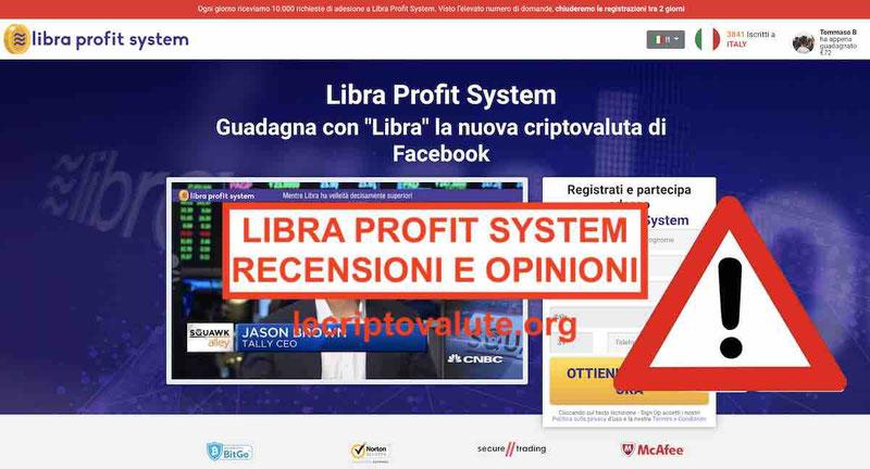 Libra Profit System recensioni opinioni funziona o truffa[2019]