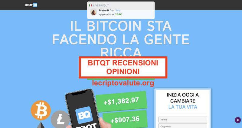 BitQT recensioni e opinioni truffa o affidabile
