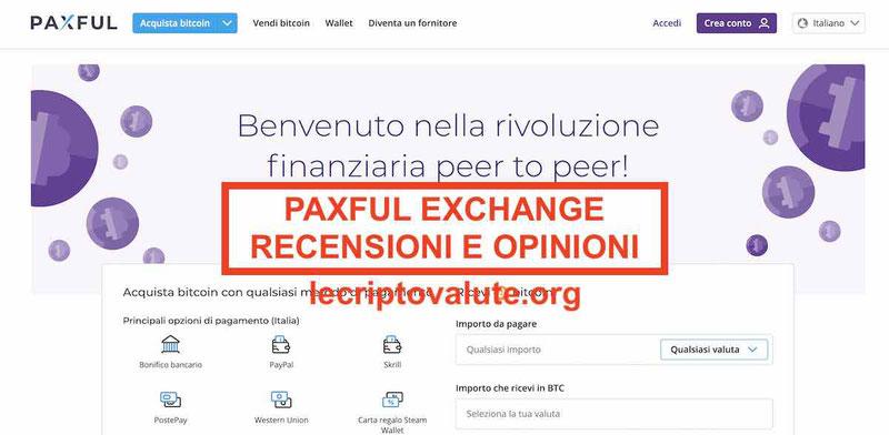 Paxful recensioni opinioni Exchange funziona commissioni?