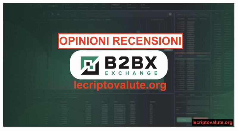 B2BX Exchange aggregatore ICO criptovalute: truffa recensioni opinioni
