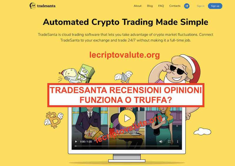 TradeSanta recensioni opinioni: bot trading automatico truffa