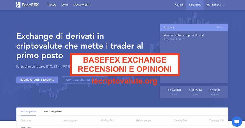 BaseFEX recensioni opinioni exchange Truffa o funziona