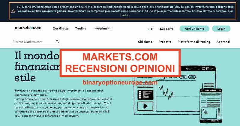 markets.com broker forex recensione e opinioni