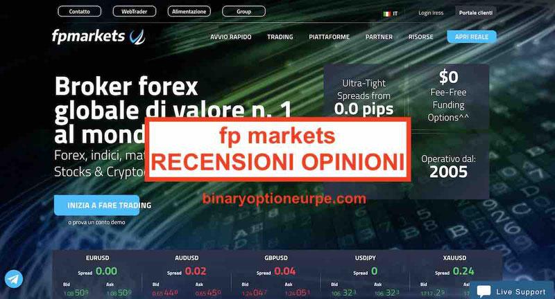 FP Markets recensioni opinioni commissioni fpmarkets.com