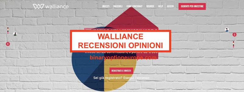 Walliance opinioni, recensioni,come funziona, quali rischi