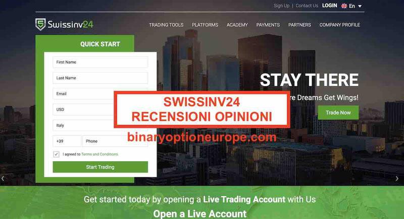 Swissinv24 recensioni opinioni truffa? [2020] SwissInv24.com CONSOB