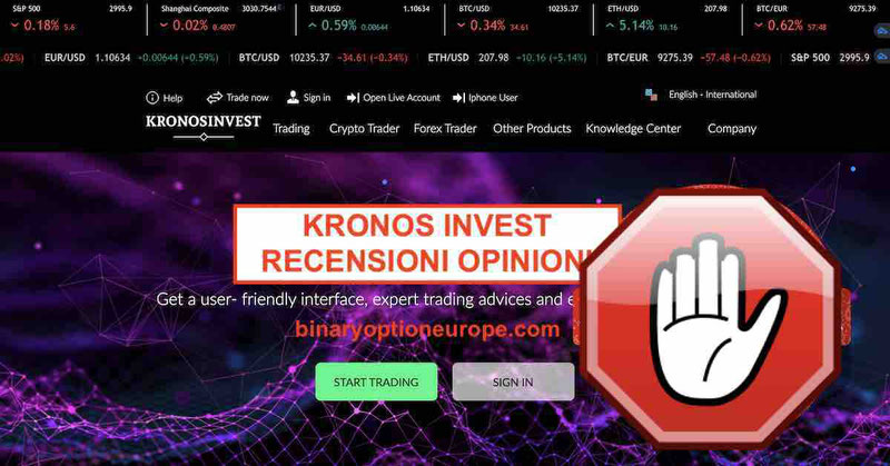 Kronos Invest recensioni opinioni truffa? Attenzione! [2019]