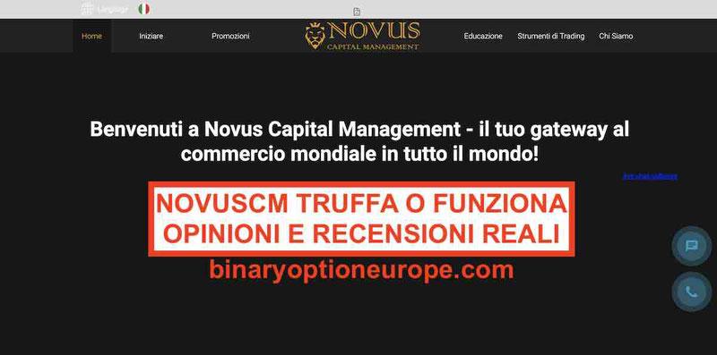 NovusCM opinioni broker truffaRecensioni Reali