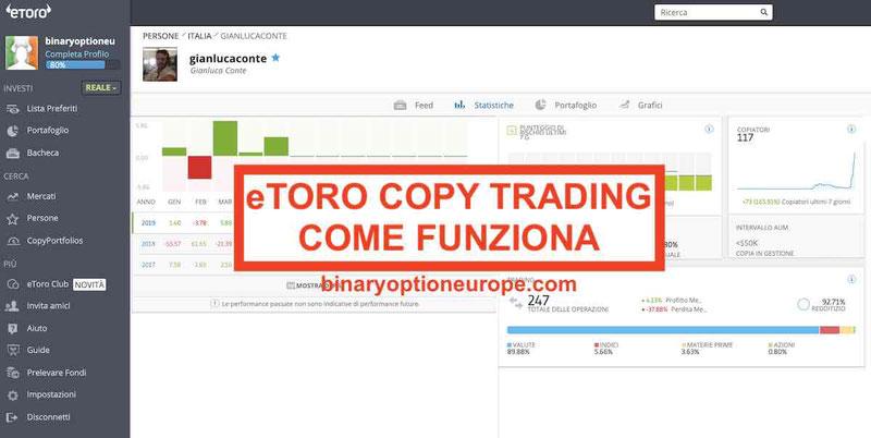 eToro Copy Trading funziona Come avere successo con eToro