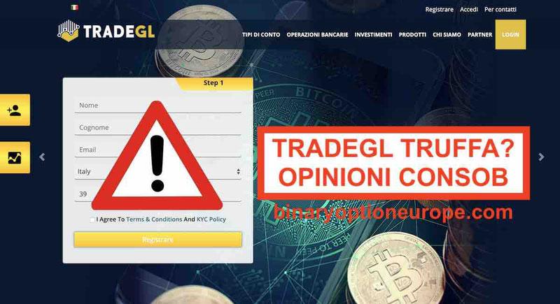 TradeGL Recensioni e Opinioni Negative [CONSOB 2019] Truffa