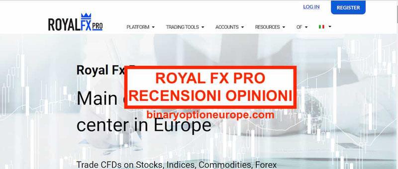 Royal Fx Pro recensioni opinioni funziona e paga? [AVVISO CONSOB]