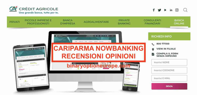 Cariparma Nowbanking recensioni opinioni Alternative valide