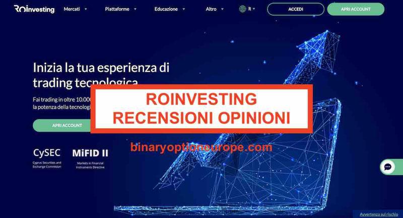 roinvesting recensioni opinioni negative truffa roinvesting.com Forum