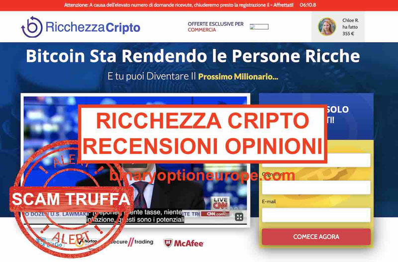 Ricchezza Cripto recensioni opinioni:Berlusconi truffa bufala briatore barbara d'urso