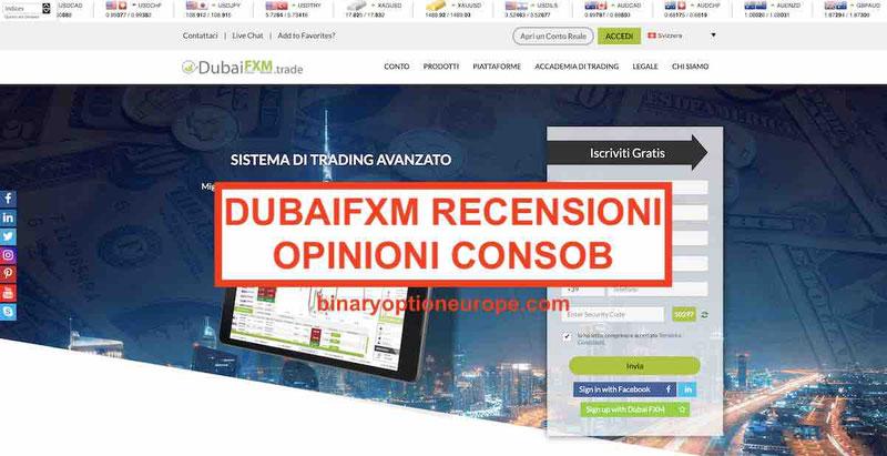 DubaiFXM recensioni opinioni [2019] Avviso CONSOB e alternative