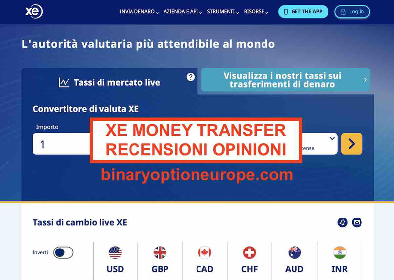 XE Money Transfer recensioni opinioni xe.com alternative